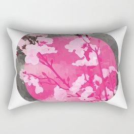 Vietnam Peach Blossom Hoa Dao Tet Holiday Rectangular Pillow