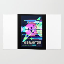 Grand Tour - NASA Space Travel Poster (Alternative) Rug