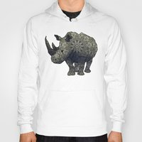 rhino Hoodies featuring Rhino by Dusty Goods