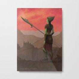 Warrior Princess of Skorden Metal Print