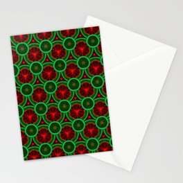 red and greenery kivi pattern Stationery Cards