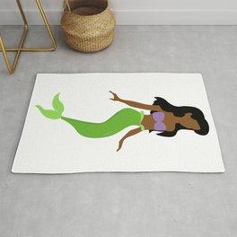 african black mermaid Rug