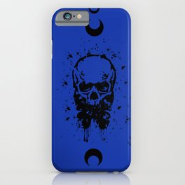 Butterfly Skull Blue iPhone Case