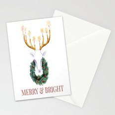Merry and Bright Deer Stationery Cards