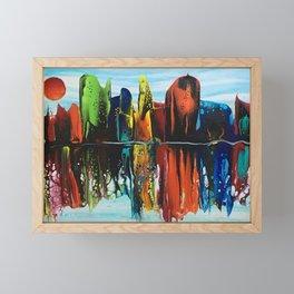Chromatic City Framed Mini Art Print