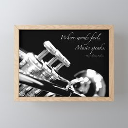 Music Speaks Framed Mini Art Print