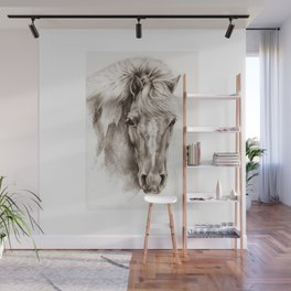 Pony portrait pencil drawing Wall Mural