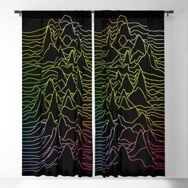 rainbow illustration - sound wave graphic Blackout Curtain