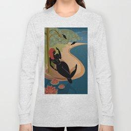 Kuan Yin Beneath a Willow Long Sleeve T-shirt