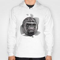gorilla Hoodies featuring Gorilla by Creadoorm