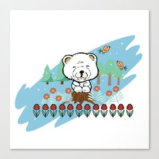 Chow Chow in the forest Canvas Print