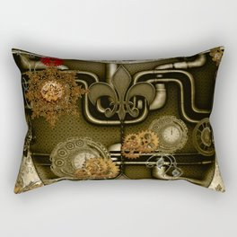 Wonderful noble steampunk design Rectangular Pillow