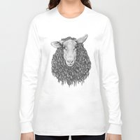 sheep Long Sleeve T-shirts featuring Sheep by Thea Nordal