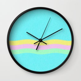 Retro Waves Wall Clock