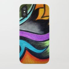 Oil Pastels and Conte Crayon iPhone X Slim Case