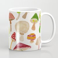 mushrooms Mugs featuring Mushrooms by Cat Coquillette