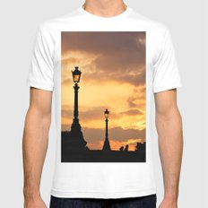 A sunset in Paris MEDIUM White Mens Fitted Tee