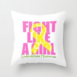 Endometriosis fight Throw Pillow