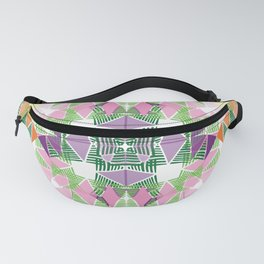 Colorful Tropical Abstract Zenspire Geometrical Pattern Fanny Pack