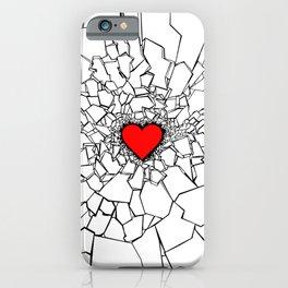 Heartbreaker III White iPhone Case
