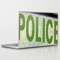 police Laptop & iPad Skins featuring police by XiXi