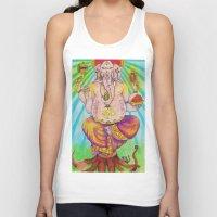 ganesha Tank Tops featuring Ganesha by Lioz