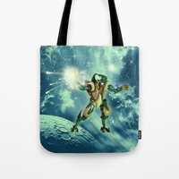 robot Tote Bags featuring Robot  by nicky2342