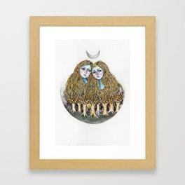 Goblin Market - illustration of poem by Christina Rossetti Framed Art Print