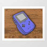 gameboy Art Prints featuring Gameboy by Caroline David