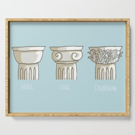 classic columns orders Serving Tray