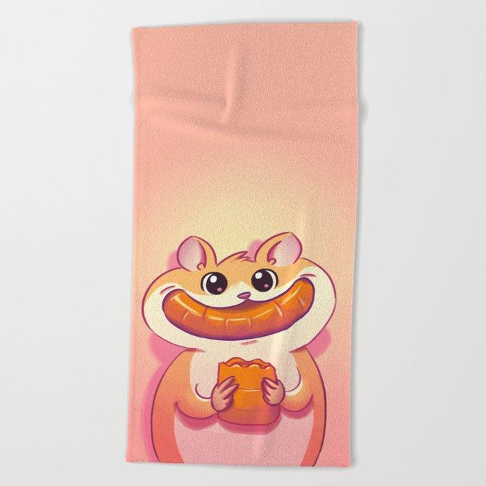 Hamster Happiness Beach Towel