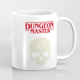Hardcore Dungeon Master Skull DnD Coffee Mug