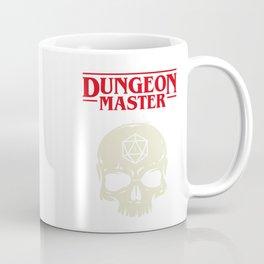 Hardcore Dungeon Master Skull DnD Coffee Mug