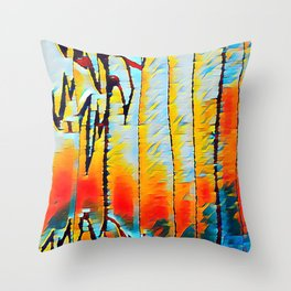 The Cave ( Colourized) Throw Pillow