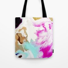 Happiness Ever Abstract Watercolor Painting Tote Bag
