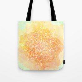Watercolor Mandala // Sunny Floral Mandala Tote Bag