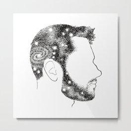 Head in Space Metal Print