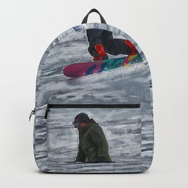 Cutting Corners - Winter Snow-boarder Backpack