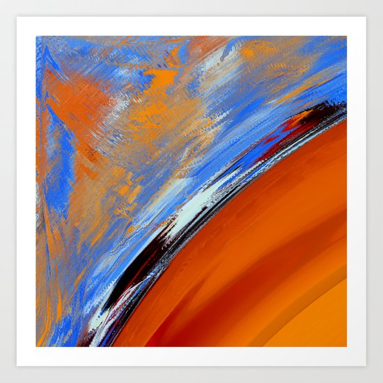 What  Colour is the Sky on Your Planet ? Art Print