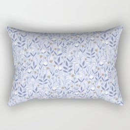 Pastel Purple Ditzy Wild Meadow Floral Print Rectangular Pillow