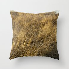 Montauk Grass Sand Dunes Throw Pillow