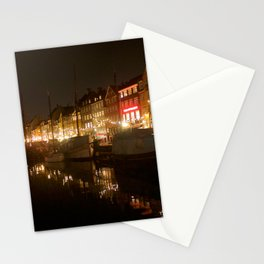 Nyhavn at night Stationery Cards