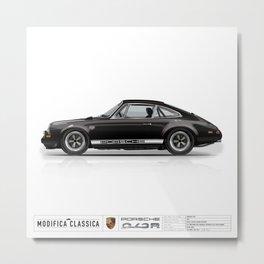 1967 Porsche 912R BLACK Metal Print