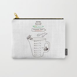 Brown Bear Kitchen Conversion Chart - measurements Carry-All Pouch