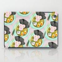 ramen iPad Cases featuring Ramen Cats Pattern by Cindy Suen