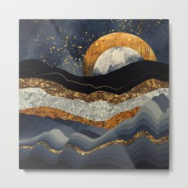 Metallic Mountains Metal Print