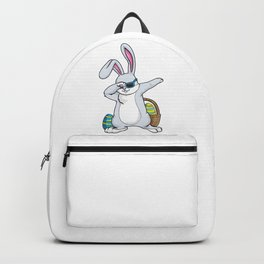 Bunny with Sunglasses and Egg at Hip Hop Dance Dab Backpack
