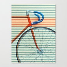 Standard Striped Bike Canvas Print