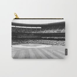 Safeco Field in Seattle Washington - Mariners baseball stadium in black and white Carry-All Pouch