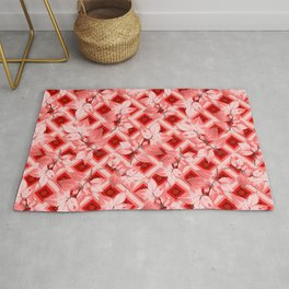 Pink Op Art Autumn Rug